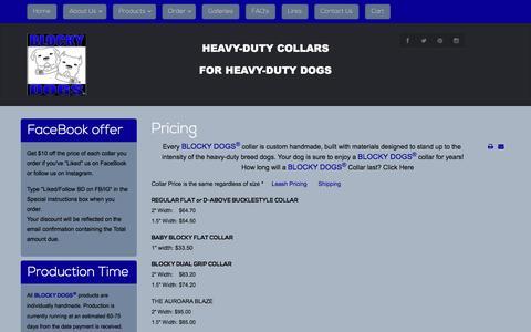 Screenshot of Pricing Page blockydogs.com - Pricing - captured Nov. 22, 2016