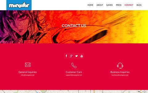 Screenshot of Contact Page mangatar.net - Contact Mangatar - captured Sept. 16, 2014