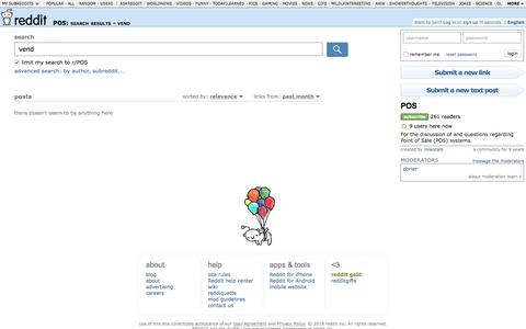 POS: search results - vend