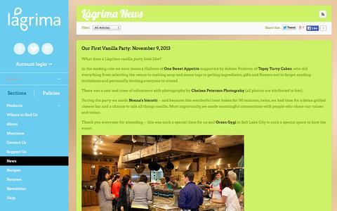Screenshot of Press Page lagrima.com - Lágrima News   Lágrima, LLC - captured Sept. 27, 2014