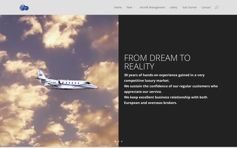 Screenshot of Home Page solarisaviation.ch - SOLARIS AVIATION SA | From dream to reality - captured Oct. 3, 2014