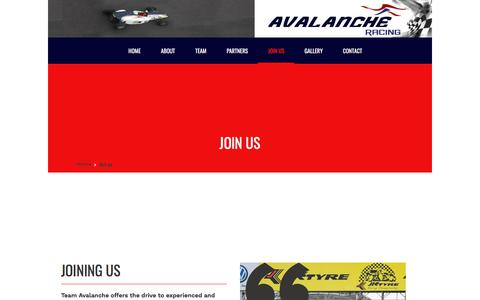 Screenshot of Signup Page avalancheracing.in - Avalanche Racing - captured July 31, 2018