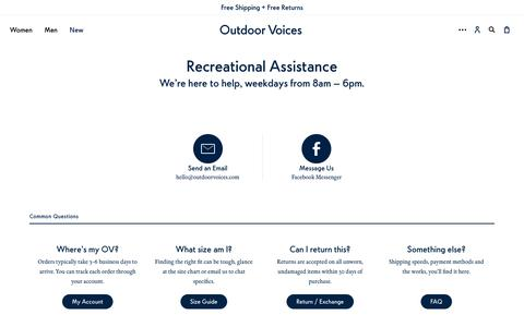 Contact Us – Outdoor Voices