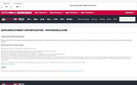Screenshot of Jobs Page rotoworld.com - Jobs | Rotoworld.com - captured Feb. 16, 2019