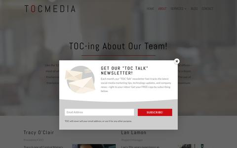 Screenshot of About Page Team Page toc-media.com - TOCmedia's Marketing Professionals - captured Sept. 21, 2018