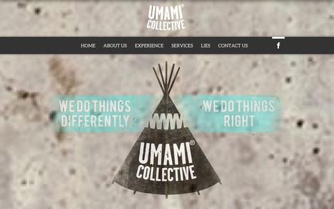 Screenshot of Home Page theumamicollective.com - The Umami Collective | We do things differently, we do things right - captured Sept. 30, 2014