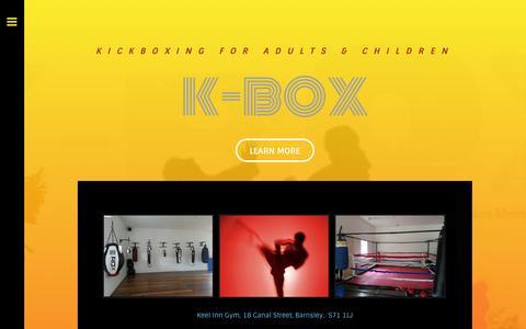 Screenshot of weebly.com - K-Box Barnsley - K-BOX Home - captured Oct. 10, 2014