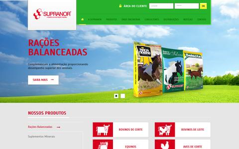 Screenshot of Home Page supranor.com.br - Supranor - captured Sept. 30, 2014
