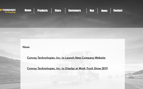 Screenshot of Press Page convoytechnologies.com - News | Fort Wayne Website Design | IN | IPM Web Design - captured March 7, 2019