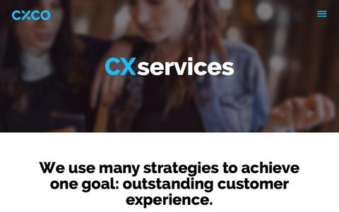 Screenshot of Services Page cxco.co.uk - CXCo|Customer Experience Services - captured Jan. 24, 2016