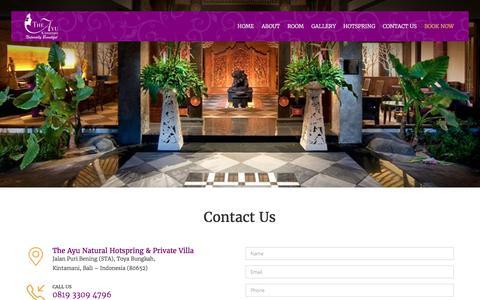 Screenshot of Contact Page theayu.com - The Ayu | Contact us - captured Oct. 21, 2017