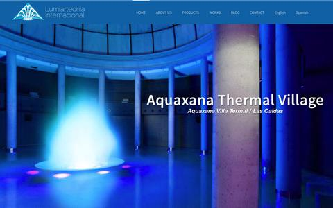 Screenshot of Home Page lumiartecnia.com - Decorative water fountains for outdoors - Lumiartecnia Internacional - captured Nov. 11, 2018