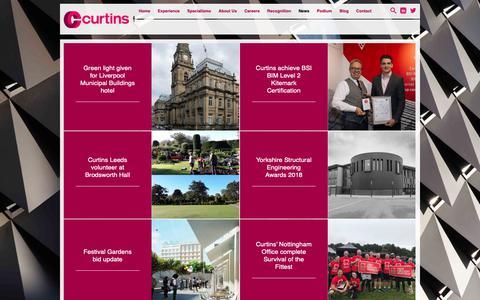 Screenshot of Press Page curtins.com - Latest News | Curtins - captured Nov. 5, 2018