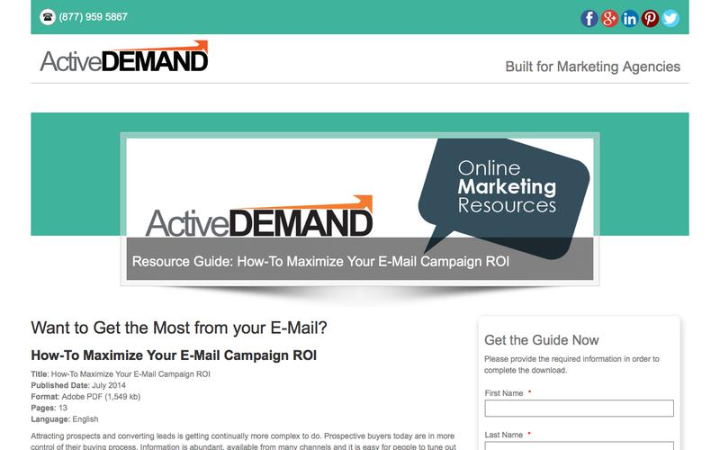 Resources - Guide - Maximize Email Campaign ROI
