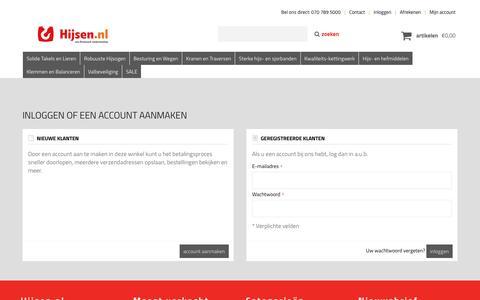 Screenshot of Login Page hijsen.nl - Klant-login - captured Nov. 23, 2016