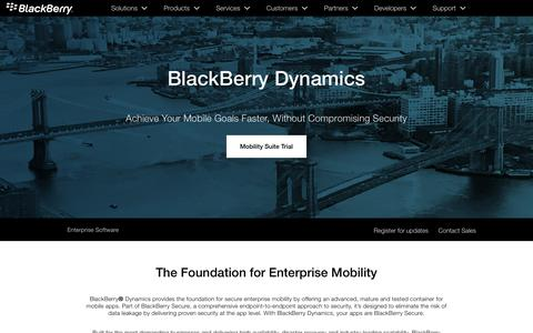 Secure Container for Mobile Apps - BlackBerry Dynamics – Good Dynamics