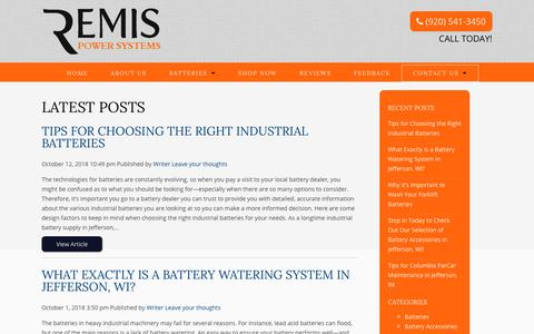 Screenshot of Blog remispowersystems.com - Blog | Remis Power Systems - captured Oct. 18, 2018