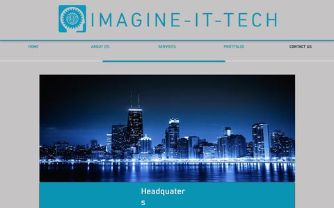 Screenshot of Contact Page imagine-it-tech.com - iMagine-it-Tech - iMagineThePossibilities | CONTACT US - captured June 8, 2017