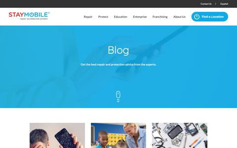 Screenshot of Press Page staymobile.com - Mobile Device Repair Blog | Staymobile - captured Oct. 1, 2018
