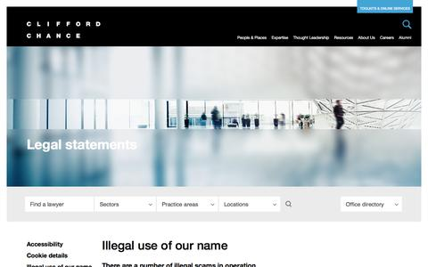 Clifford Chance | Illegal use of our name