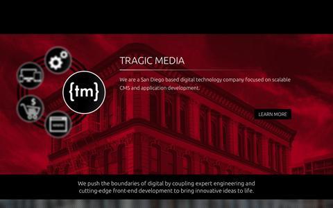 Screenshot of Contact Page tragicmedia.com - Tragic Media   San Diego's Top Digital Development Agency - captured Aug. 4, 2015