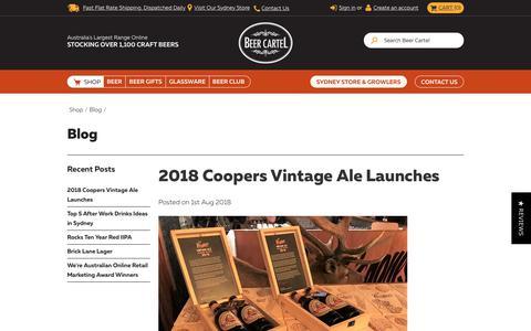 Screenshot of Blog beercartel.com.au - Blog - captured Aug. 1, 2018