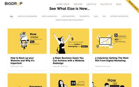 Screenshot of Blog bigdropinc.com - Website Design and Web Development Articles - Big Drop Inc Blog - captured March 18, 2018