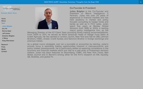 Screenshot of Team Page mi2partners.com - Macro Intelligence 2 Partners - captured Nov. 18, 2016