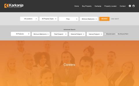 Screenshot of Jobs Page karkanja.com - Careers - Property For Sale In Gozo - Karkanja Real Estate Agency - captured Oct. 16, 2017