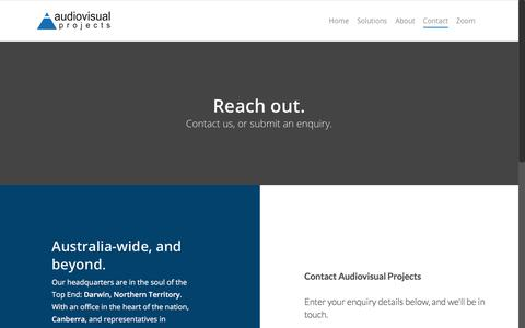 Screenshot of Contact Page avprojects.com.au - Contact – Audiovisual Projects - captured Oct. 9, 2017