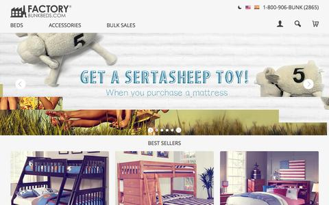 Screenshot of Home Page factorybunkbeds.com - Bunk Beds for Sale - Choose from the Best - captured Sept. 19, 2015