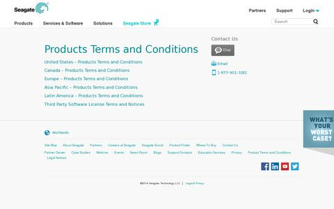 Screenshot of Terms Page evault.com - Terms of Use | EVault, A Seagate Company - captured July 18, 2014