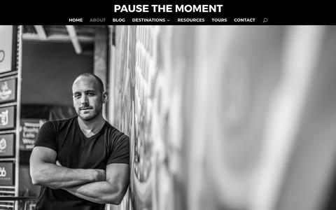 Screenshot of About Page pausethemoment.com - About | Pause The Moment - captured July 16, 2018