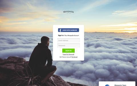 Screenshot of Login Page manpacks.com - Sign In To Your Manpacks Account - captured Nov. 30, 2015