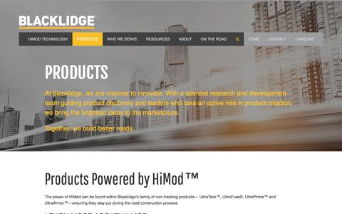 Screenshot of Products Page blacklidgeemulsions.com - Products - Blacklidge Emulsions - Blacklidge Emulsions - captured Nov. 22, 2016