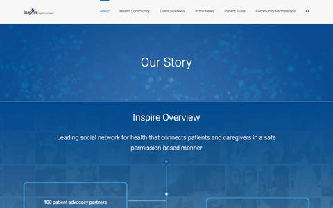 Screenshot of About Page inspire.com - Inspire - Our Story - captured Jan. 1, 2020