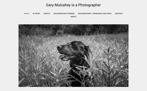 Screenshot of Menu Page mulcahey.com - Menu - Gary Mulcahey's Portfolio - captured Oct. 18, 2018