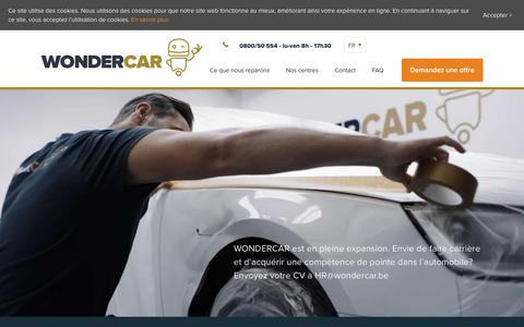 Screenshot of Jobs Page wondercar.be - Jobs — WONDERCAR : WONDERCAR - captured Sept. 20, 2018