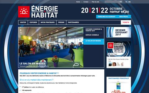 Screenshot of Home Page energie-habitat.be - Energie & Habitat - Energie & Habitat - captured May 18, 2017