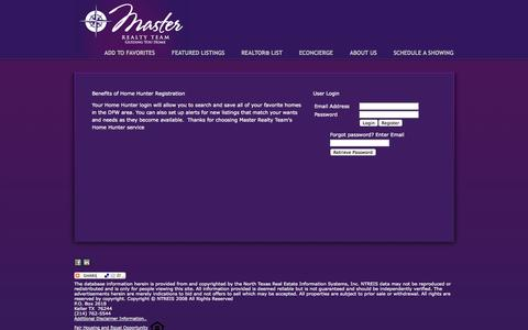 Screenshot of Login Page masterrealtyteam.com - Master Realty Team - Guiding You Home - captured Oct. 27, 2014