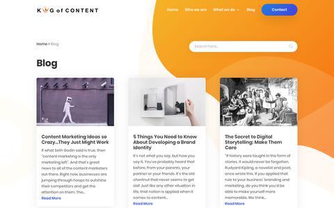 Screenshot of Blog kingcontent.com.au - Blog - captured Sept. 19, 2018