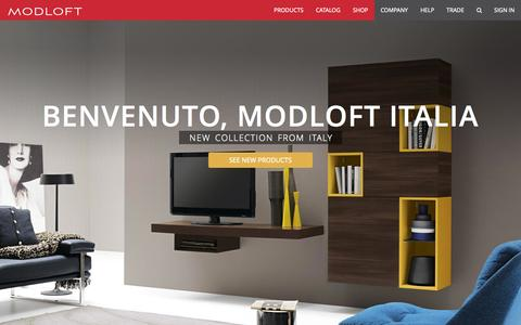 Screenshot of Home Page modloft.com - Modloft Modern Furniture Online Retail & Wholesale - captured Sept. 12, 2014