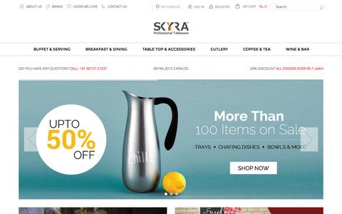 Screenshot of Home Page skyra.in - Skyra Professional Equipment Pvt. Ltd.| Home - captured Sept. 16, 2015