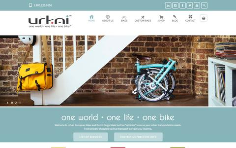 Screenshot of Home Page urkai.com - Dutch Bikes | Cargo Bike | Folding Bicycles | Kids Bike - captured Feb. 14, 2016