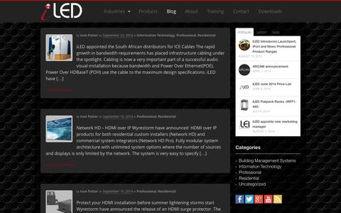Screenshot of Blog iled.co.za - Blog - iLED - captured Oct. 6, 2014
