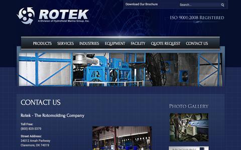 Screenshot of Contact Page rotomoldusa.com - Contact Us - captured Oct. 26, 2014