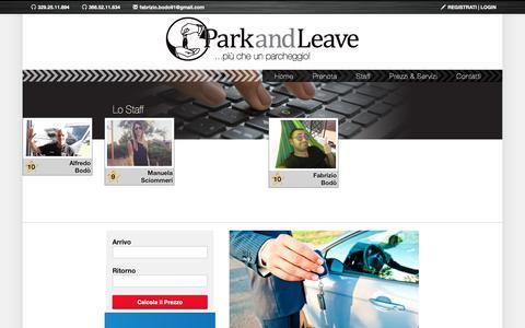 Screenshot of Team Page parkandleave.it - Park&Leave di Bodò Fabrizio - Team Site - captured Dec. 7, 2018