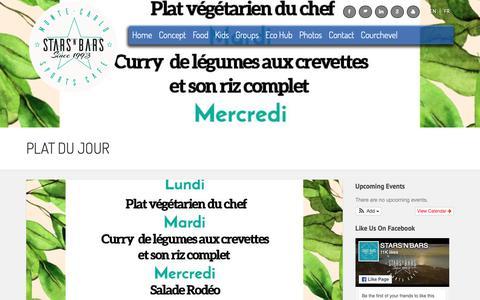 Screenshot of Menu Page starsnbars.com - Plat du Jour - Stars'N'Bars MonacoStars'N'Bars Monaco - captured May 30, 2019