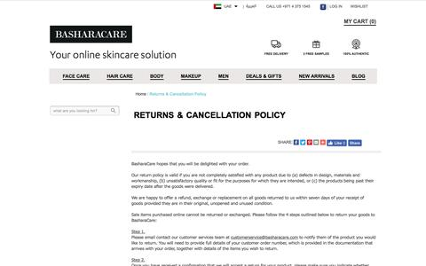 Returns & Cancellation Policy
