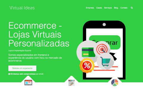Screenshot of Home Page virtualideas.com.br - Bem vindo - Virtual Ideas - captured June 13, 2017